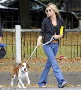 Kate Moss con il cane Archie