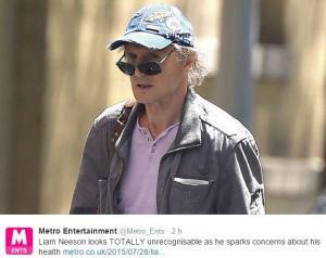Liam Neeson invecchiato