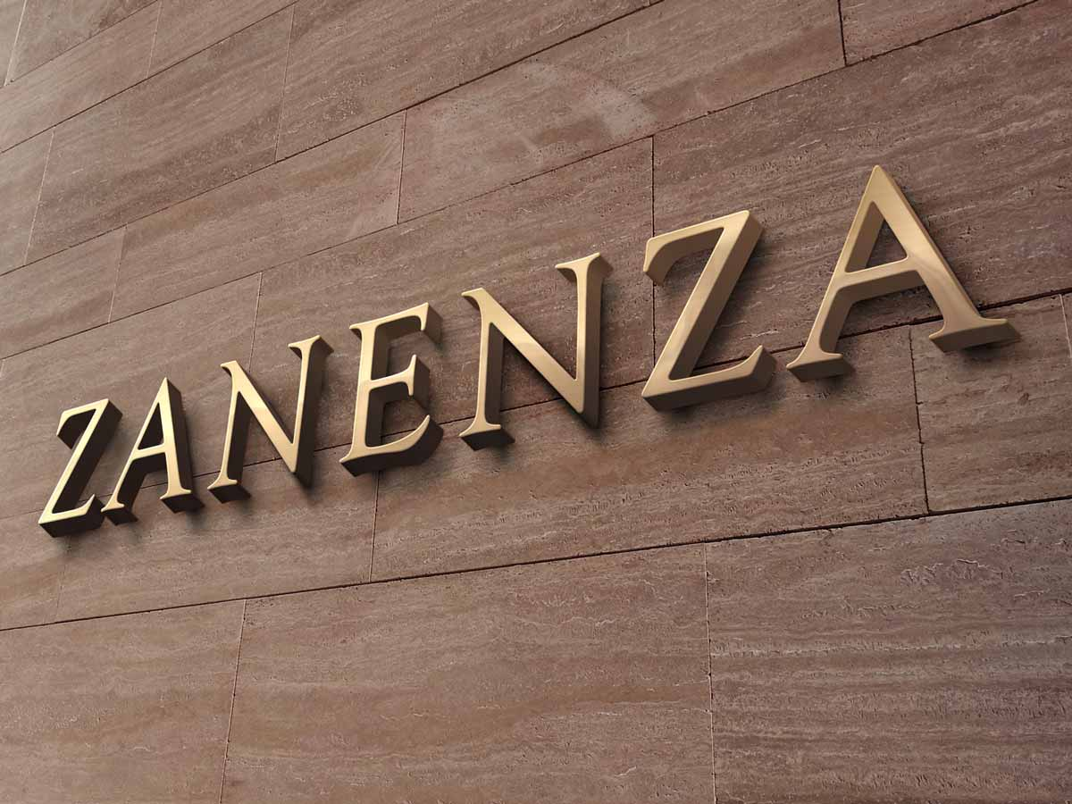 Zanenza welcome page