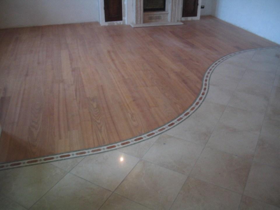 Pavimenti In Legno E Ceramica.Pavimento Legno Inserto Ceramica Zanfi Pavimenti
