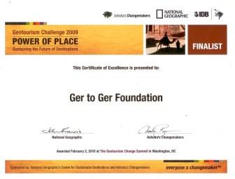 Zanjan Fromer - National Geographic Society - GER ot GER Foundation