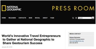Zanjan Fromer - National Geographic Society - Most Innovative Travel Entrepreneurs