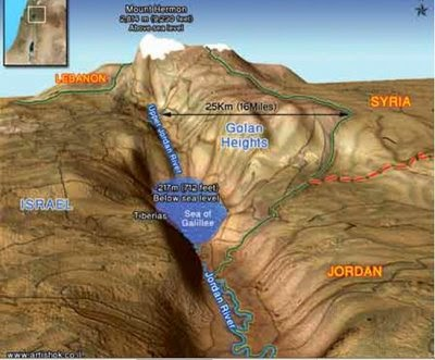 Golan topographical map