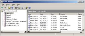 Installation event log