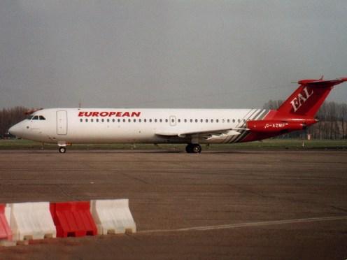 BAC 111-530FX European Airlines G-AZMF
