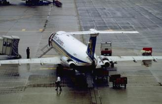 British Caledonian BAC One-Eleven on Schiphol Airport
