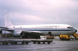 Boeing 707-3J6C of Jordanian Airline Corp. JY-AJN at Maastricht Aachen Airport