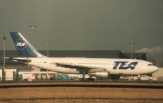 TEA - Trans European Airways Airbus A300B1 OO-TEF is the second built Airbus.