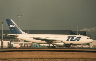 TEA - Trans European Airways Airbus A300B1 OO-TEF is the second built Airbus.