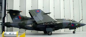 Buccaneer S.2B at the Duxford Museum. Wings folded