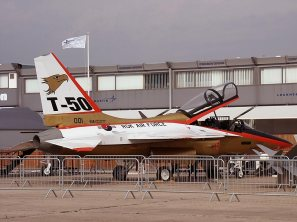 KAI T-50 Golden Eagle mock-up at the Paris Air Show.
