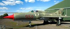 Micoyan Gurevich MiG21SPS 959 East German Air Force panorama