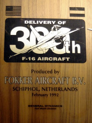 ad08-04 300th f-16 plaque fokker