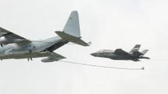 Lockheed Martin F-35B Lightning II US Marines 168727 with C-130 tanker