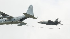 Lockheed Martin F-35B Lightning II US Marines 168727 with C-130 tanker