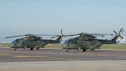 EHI EH-101 Merlin HC3 ZJ124/H and ZJ131/P 846NAS Royal Navy