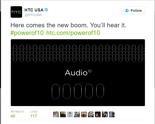 """HTC 10 comes with a new """"Boom Sound"""" feature"""
