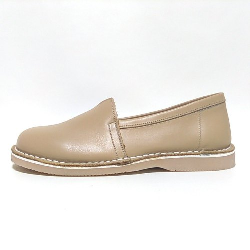 camping beige zapatines