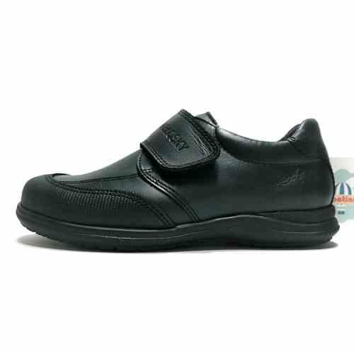 Pablosky zapato colegial negro velcro