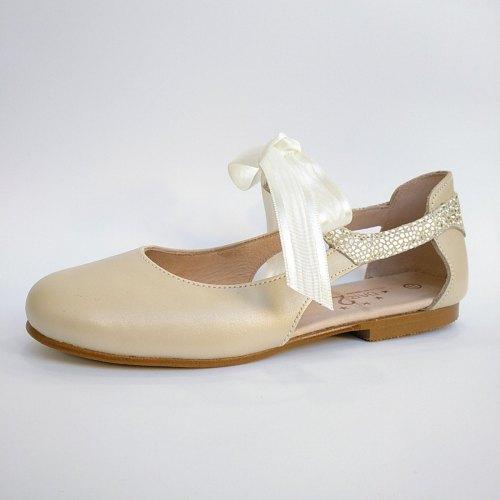 zapatos de comunión para niña con lazo
