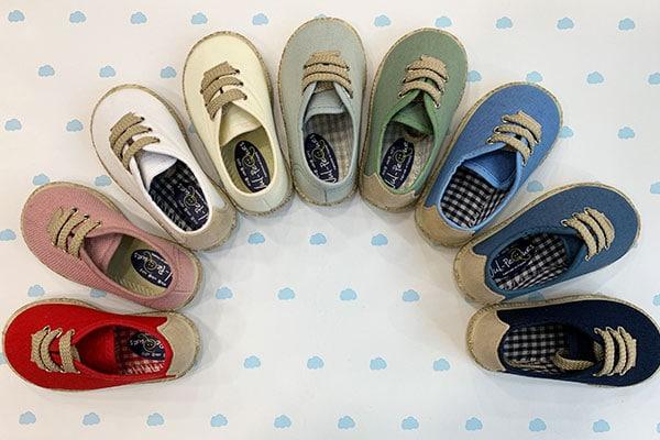 zapatillas de lona para niños de arras