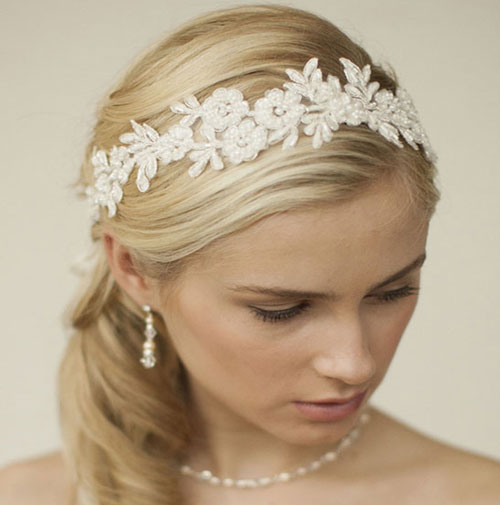 lace wedding hair ribbon malia