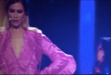 Eurovisão 2018: Sílvia Alberto descuida-se e quase mostra demais em direto para todo o mundo! [Vídeo]
