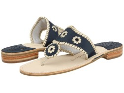 Jack Rogers - Palm Beach Navajo Platinum (Navy/Platinum) Women's Sandals