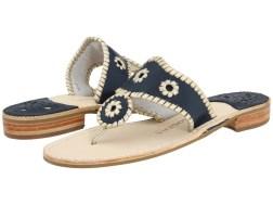 Jack Rogers - Palm Beach Navajo Platinum (Navy/Platinum) Women's Sandals
