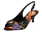 J. Renee - Classic (Black Brite Floral Satin) - Footwear