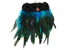 Inspired by Claire Jane - Peacock Feather Purse (Turquoise/Black/Petite Brooch) - Bags and Luggage