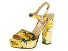 Kate Spade New York - Ila (Yellow Silk Floral Print) - Footwear