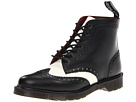 Dr. Martens - Affleck Brogue Boot (Black/Off White Smooth) - Footwear