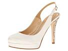 Kate Spade New York - Leader (Ivory Satin/Gold Glitter Heel) - Footwear
