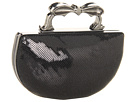 Betsey Johnson - Sequin Nuckle Clutch (Black) - Bags and Luggage