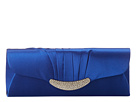 Jessica McClintock - Pleated Flap Clutch w/ Ornament (Coblat) - Bags and Luggage
