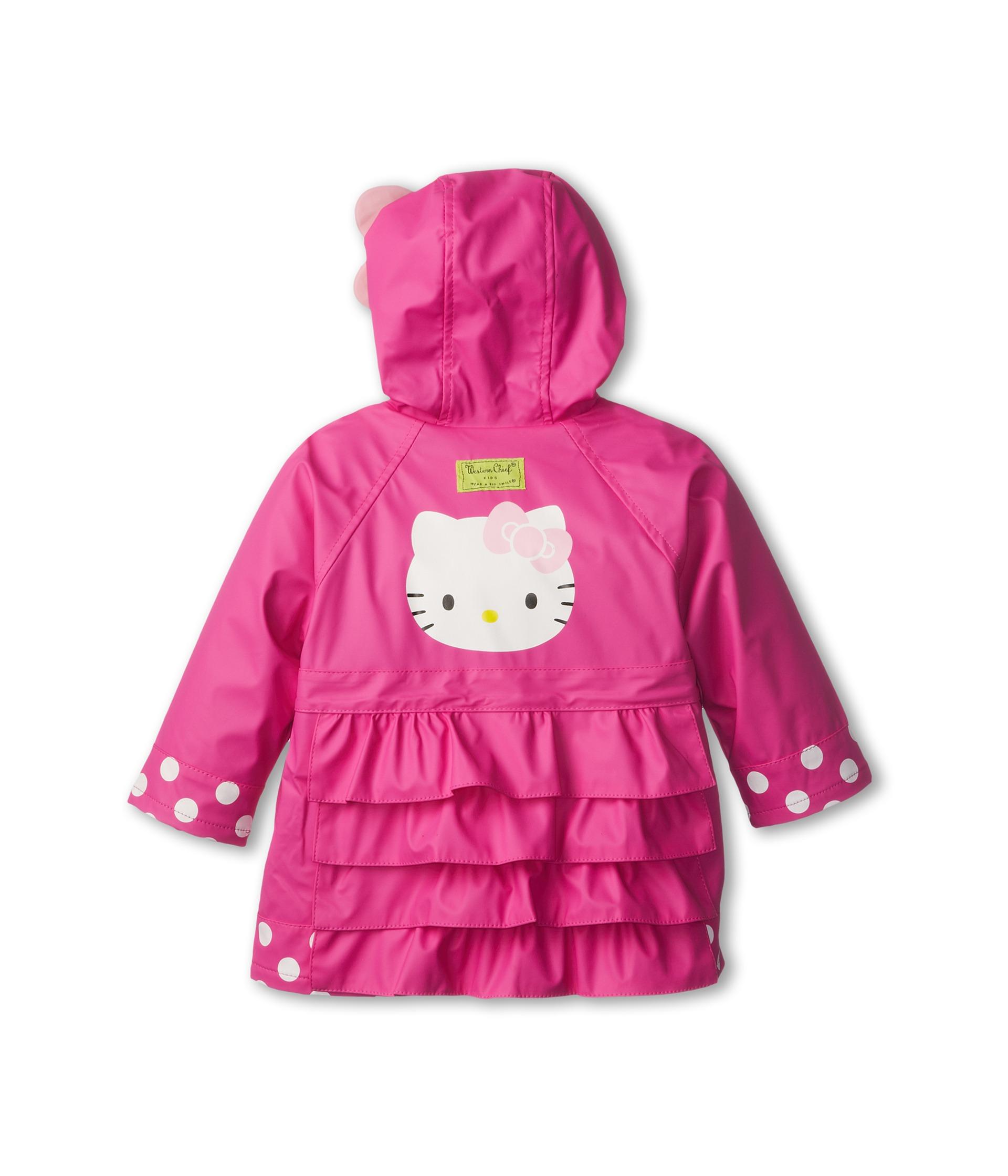 Western Chief Kids Hello Kitty Cutie Dot Raincoat Toddler