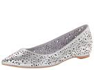 Johnston & Murphy - Tami Laser Ballet (Silver Metallic Suede) - Footwear
