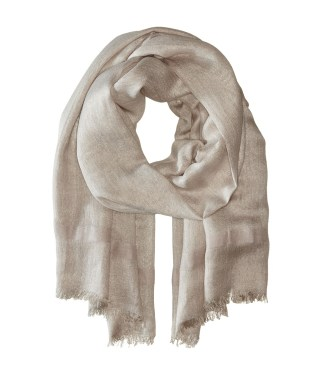 Love Quotes - Linen Lurex Eyelash Scarf (Bisque) Scarves