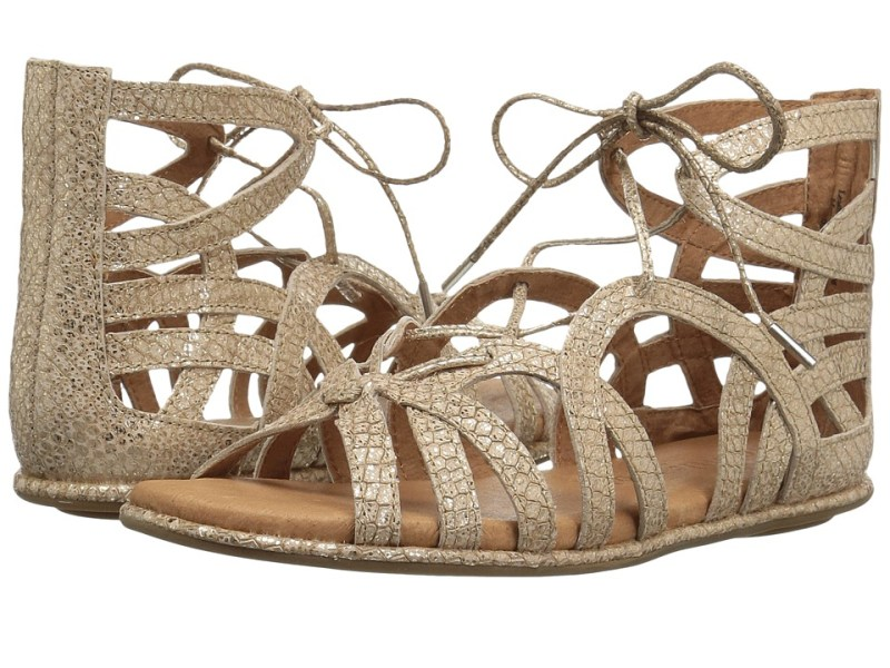 Gentle Souls - Break My Heart 3 (Gold Leather) Women's Sandals