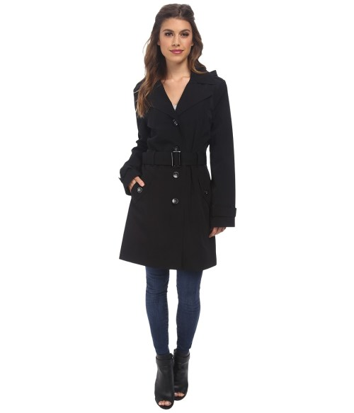 Calvin Klein Removable Hood Women's Trench Coat