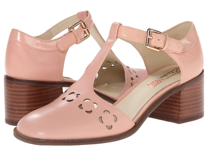 Clarks - Orla Bibi (Pink Leather) Women's  Shoes