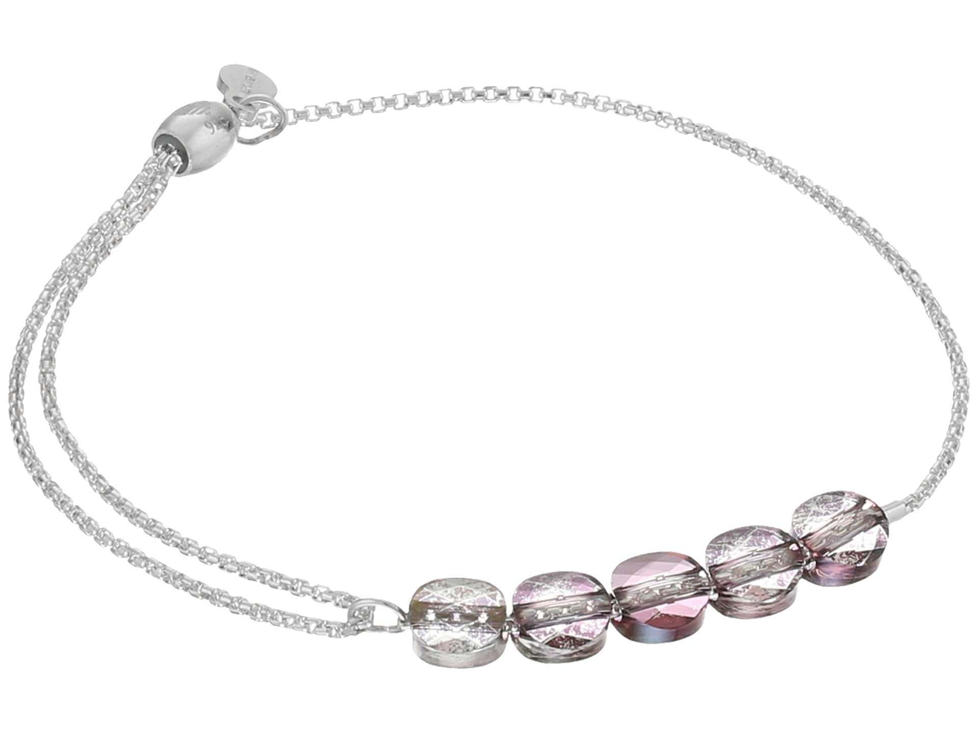 Alex And Ani Crystal Infusion Pull Chain Bracelet Orchid