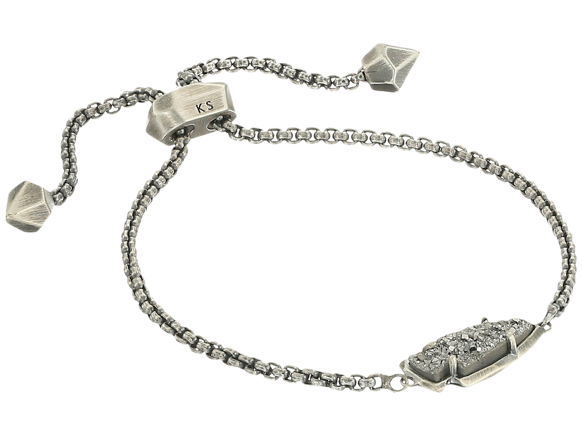 Kendra Scott Kathleen Bracelet Antique Silver Platinum
