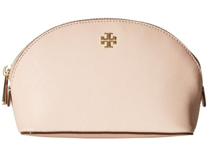 Tory Burch - Robinson Small Makeup Bag (Pale Apricot) Toiletries Case