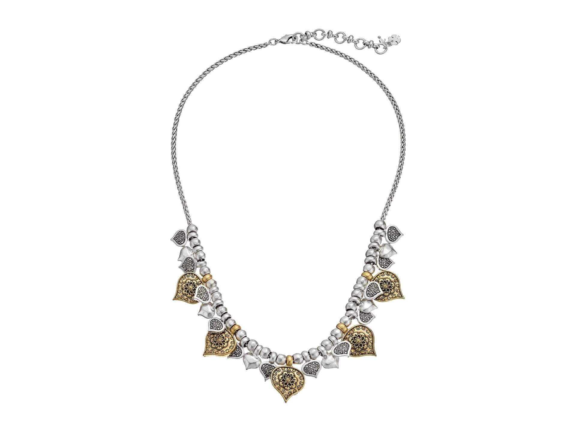 Lucky Brand Flower Collar Necklace Two Tone
