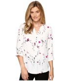 Ivanka Trump - Ditsy Floral Georgette Blouse (Ivory/Petna) Women's Blouse