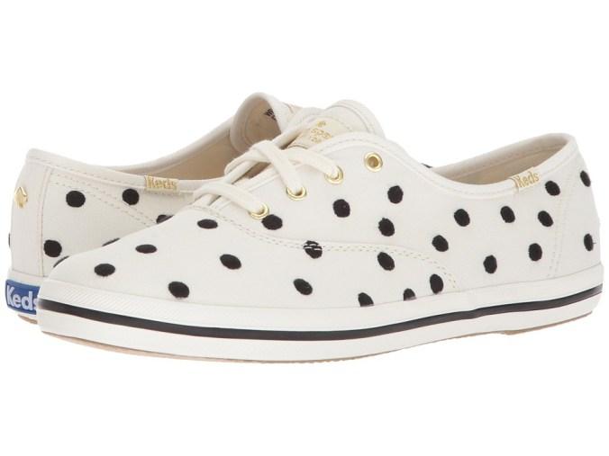 Keds x kate spade new york - Champion Dancing Dot (White/Black) Women's Shoes
