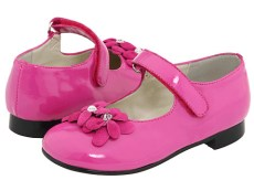 A Line Kids - 6/A0512 (Toddler) (Fuchsia Patent) - Footwear