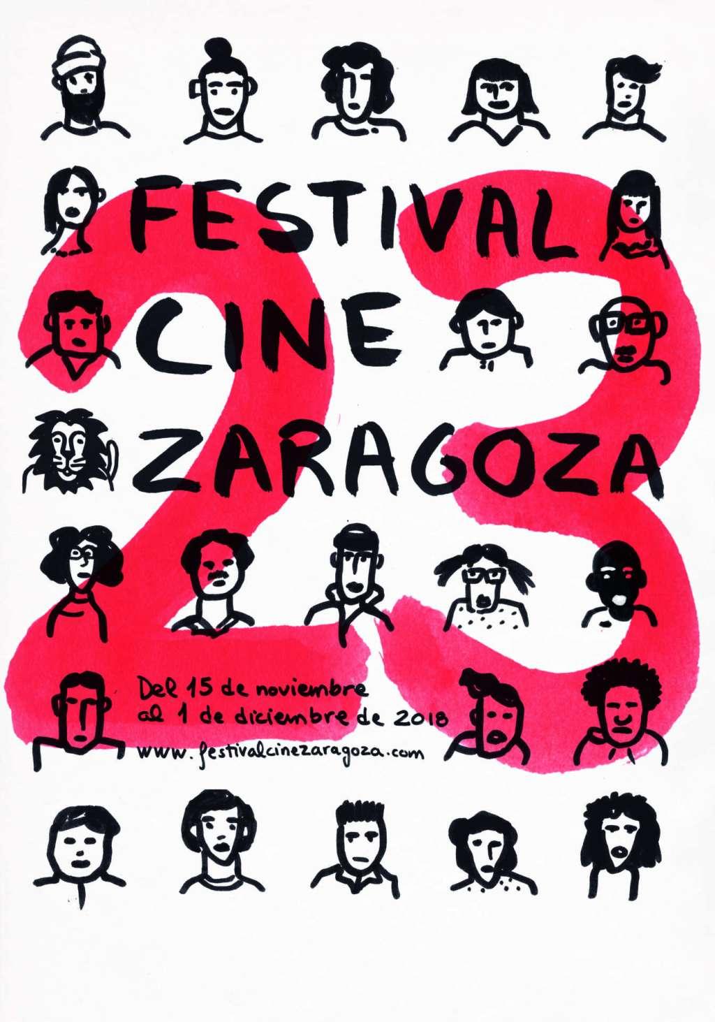 XXIII Edición Festival Internacional de Cine de Zaragoza - Cartel ganador obra de Gorka Aizpurua Serrano
